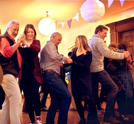 Sussex Ceilidh Wedding Function Ceili Band Causeway Folk Fiddle Barndance Hampshire Chichester UK English Irish Young Professional